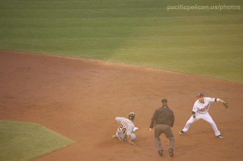 Miguel Cabrera sliding into second