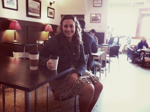 Jessica at Indie Coffee, Madison, WIsconsin