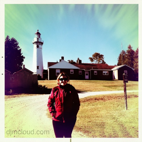 Jessica at Seul Choix Bay Lighthouse Upper Michigan
