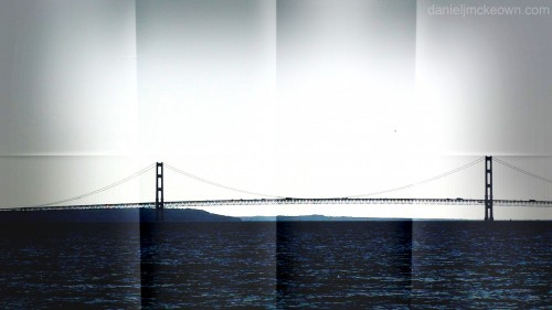 Mackinac Bridge from Mackinac Island